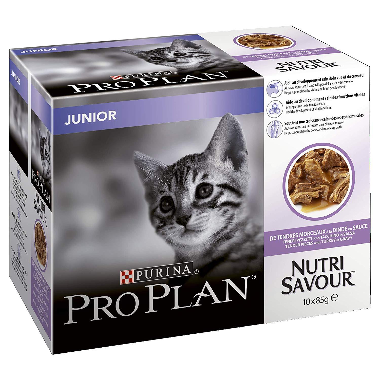 PRO PLAN Nutrisavour Junior Cat Food Turkey 4x10x85g (40 Pouches) £6.49 @ Amazon + £4.49 delivery (Non Prime)