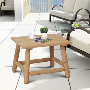 Log Table Fir Wood Coffee End Indoor Outdoor L60cm x W50 x H45 £19.99 delivered @ eBay - outsunny