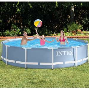 Intex Prism Metal Frame Swimming Pool (Round 12ft)  £85.99 / £77.39 with code @ EuroCarParts (Lots more deals below)