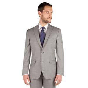 Grey pick and pick 2 button front tailored fit occasions suit - £45 + Free Del with code & C&C @ Debenhams