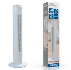 Fine Elements 32-Inch Tower Fan - £18.18 Delivered (With Code) @ Groupon