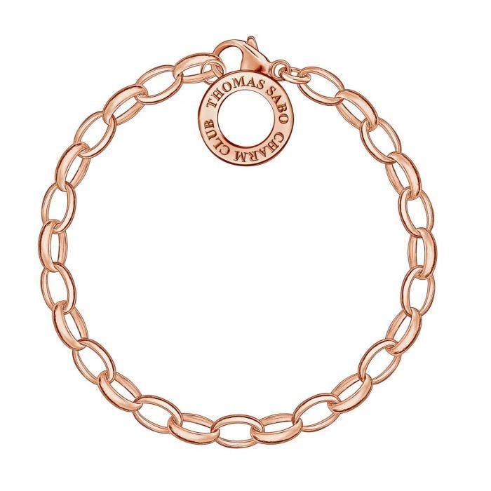 Thomas Sabo rose gold-plated belcher charm bracelet  - 18.5CM£34.50 Free Del @FraserHeart