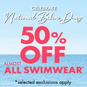 National Bikini Day!! Yay!! 50% Off  some Boux Avenue Swimwear