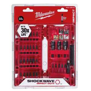 Milwaukee 33 Piece Shockwave Impact Duty Bits and Nut Drivers Set in a Plastic Storage Case £14 @ FFX
