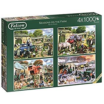 Falcon de Luxe Jigsaw Puzzle 4 x 1000 for £7.50 (Prime) / £11.99 (non Prime) at Amazon