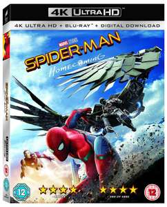 Spider-Man: Homecoming (4K Ultra HD + Blu-ray + Digital Download ) [UHD] £8.99 with new accounts code delivered @ Zoom