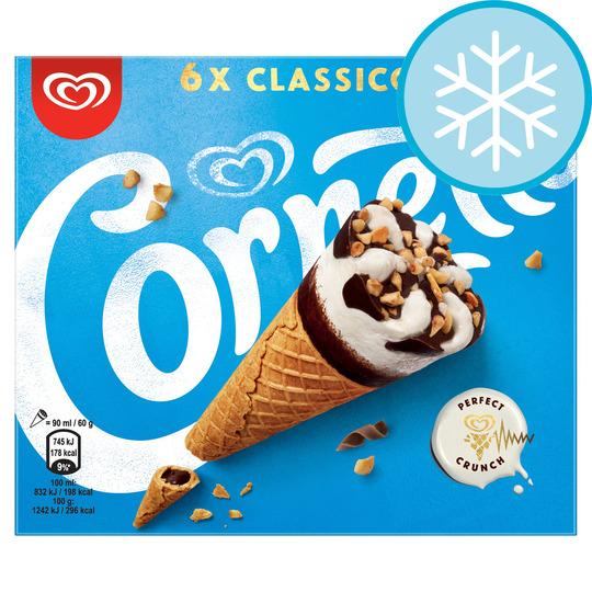 6 Classic cornetto Farmfoods 3 for £4