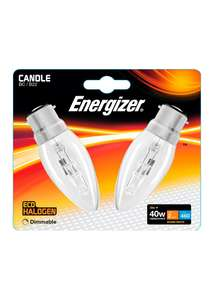 2 Pack Eco - Hal B22 Dimmable Warm Candle Bulbs 33W, Now 50p ( others see post ) @ Matalan ( Free C&C )