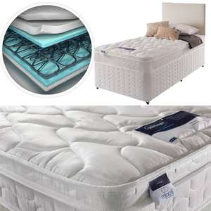 Silentnight Auckland Luxury Anti Allergy Miracoil Single Mattress - 782 Springs  £121.44 / Or With Divan Bed base £181.44 Delivered @ Argos