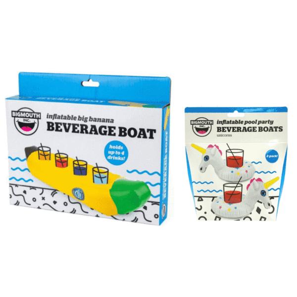 Inflatable Big Banana Beverage Boat + Inflatable Unicorn Beverage Boats Bundle £4.99 delivered @ Poundtoy