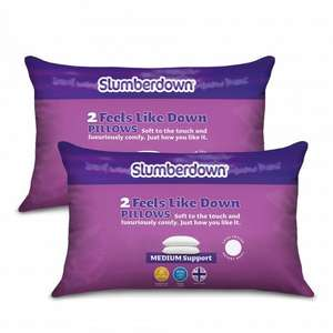 4 X Slumberdown Feels Like Down Pillow For £13.99 Delivered @ Sleepseeker