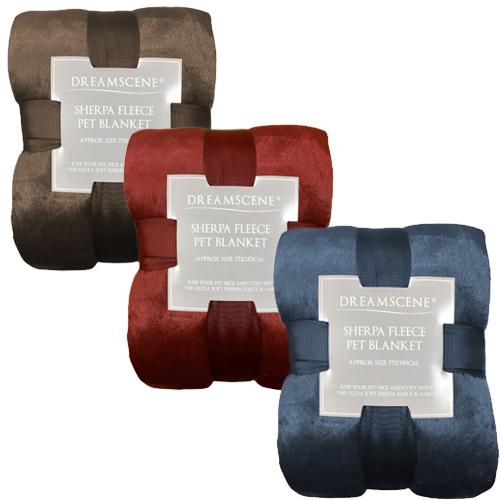 Dreamscape Sherpa Soft Pet Blanket - 75 X 110CM - £6.98 Delivered @ Online Home Shop