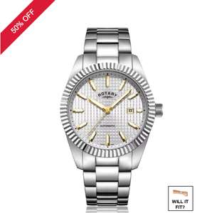 Rotary Men's Stainless Steel Bracelet Watch £149.99 @ H.Samuel