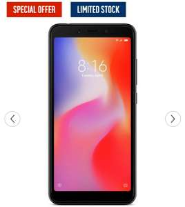 SIM Free Xiaomi Redmi 6 Mobile Phone - Black £99.95 @ Argos