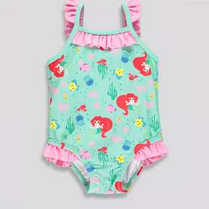 Baby girls Disney little mermaid swimming costume £3 free click and collect Matalan