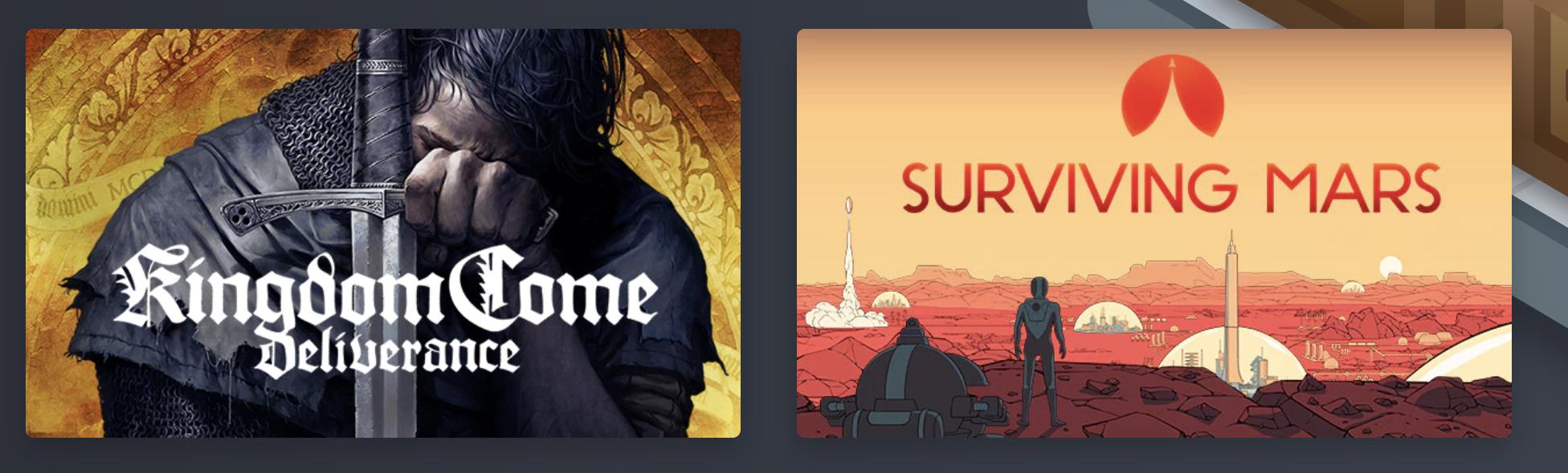 Humble Monthly - Kingdom Come: Deliverance + Surviving Mars (Steam) £9.50