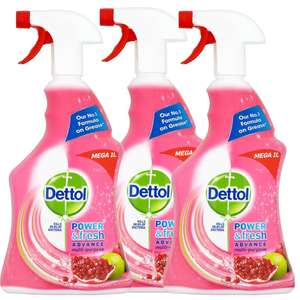 Dettol Clean and Fresh Multi-Purpose Cleaning Spray 1 Litre Pack of 3 @ Amazon - £1.20 Prime / £5.69 non-Prime