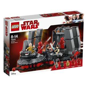 LEGO 75216 Star Wars The Last Jedi Snoke's Throne Room - now £32.50 Delivered at Amazon