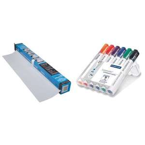 Magic Whiteboard and Staedtler Lumocolor (Sold by Amazon) - £11.99 Prime / £16.48 non-Prime @ Amazon
