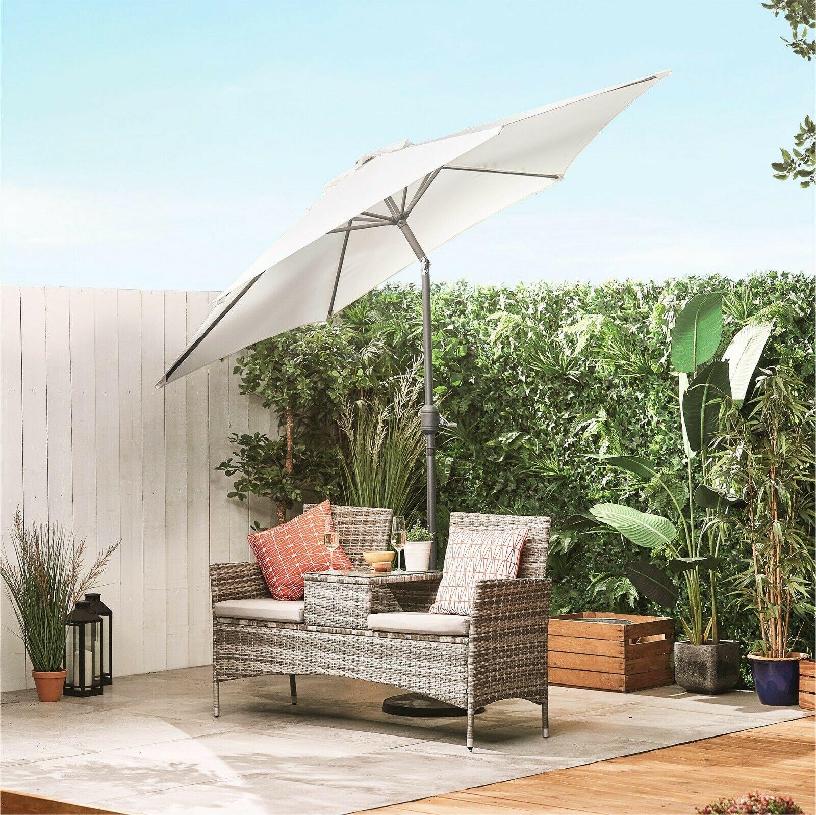 2.7 Metre Crank & Tilt Garden Parasol £18.24 Delivered @ Ebay VonHaus