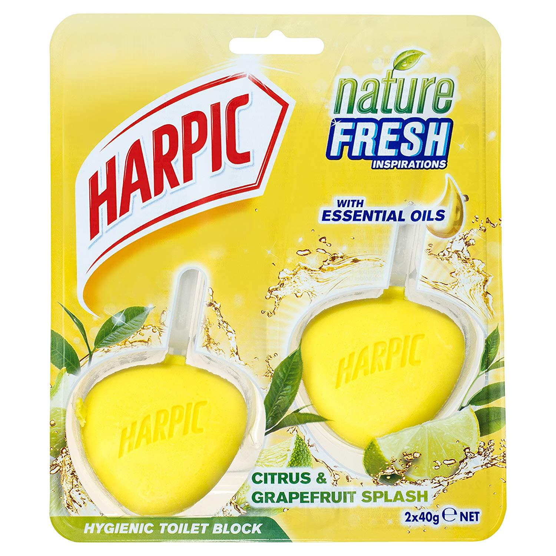Harpic Hygienic Toilet Rim Block Twin pack - Citrus & Grapefruit, Pack of 6 now £2.40 add-on item at Amazon