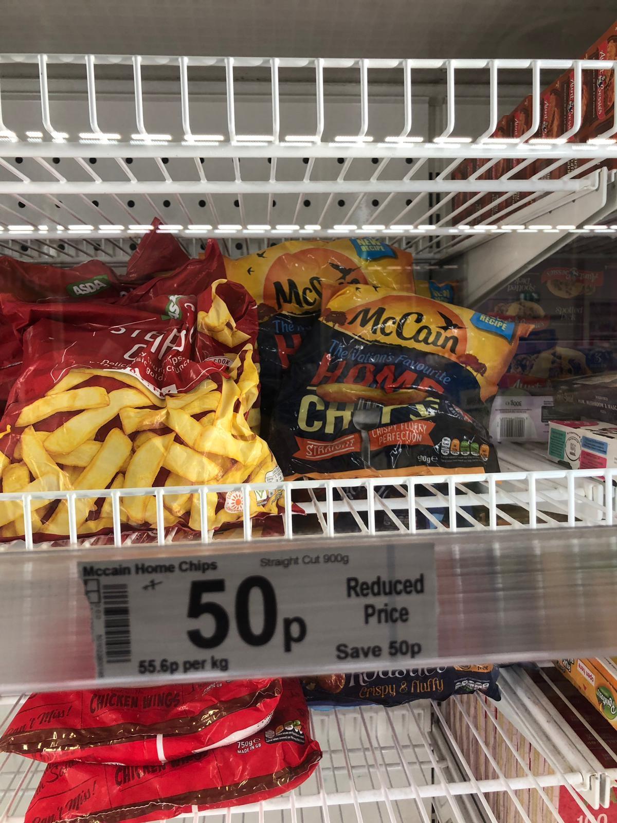 McCain Straight Cut Chips 900g 50p in store @ Asda