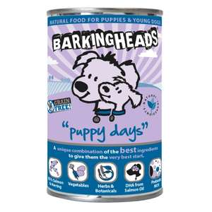 Barking Heads Puppy Days with Salmon pack of 6 £7.06 (Prime) £11.55 (Non Prime) @ Amazon
