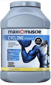 Maximuscle Cyclone 1.26kg all flavours £4.79 (subscription/Prime)