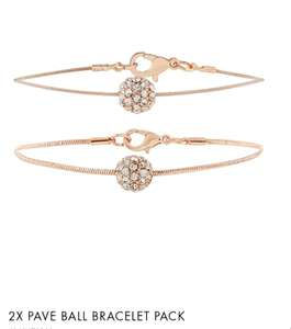 2X PAVE BALL BRACELET PACK £4 Free Del with code @Accessorize