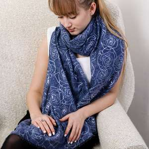 Rose Print Scarf free Del - £5.98 @ Not OnThe High Street (3 colours)