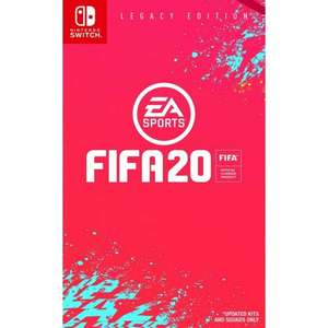 Pre Order Fifa 20 Switch Price Promise - £38.95 @The Game Collection