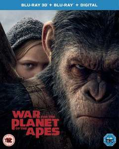 War for the Planet of the Apes Blu Ray + 3D + Digital New £4.19 @ MusicMagpie
