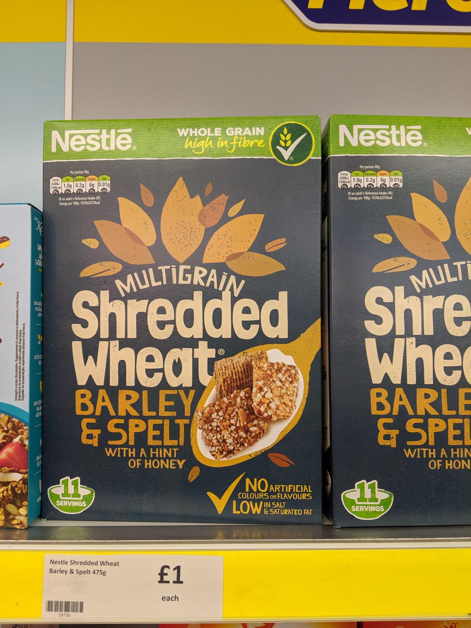 Heron Foods - Multigrain Shredded Wheat Barley and Spelt - 475g - £1