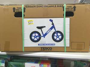 Child's bike in store at Tesco. £6.75 from £22.50
