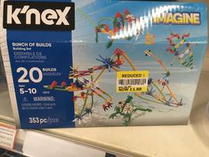 Knex 20 build box. In store at Tesco - £1.88