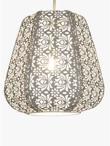 John Lewis & Partners Rosanna Easy-to-Fit Ceiling Shade, White £20 @ John Lewis & Partners Free C&C £20