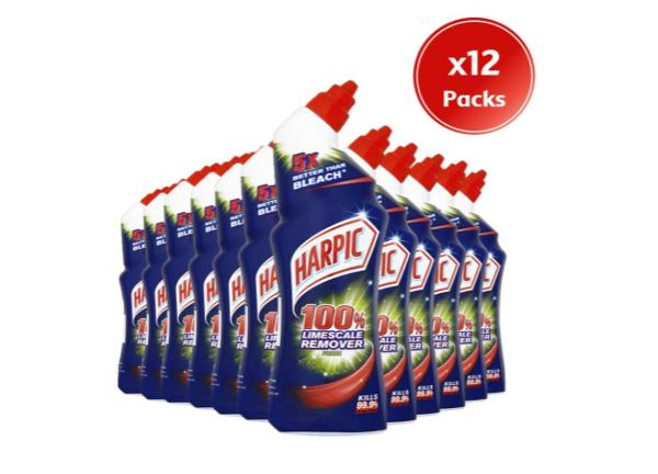 Harpic limescale remover 12 pack £12 Amazon Prime (£1 per bottle) - £4.49 (non Prime)