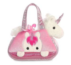 Fancy-Pal Peek-A-Boo Pet Carrier, Pink and White, 8in, Unicorn Gift. Small Bag with Removable Soft Toy £10.70 + £4.49 delivery @ Amazon