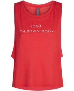 Sweaty Betty London Slogan Crop Gym Vest size XS to XL £14.40 @ Sweaty Betty Free c&c