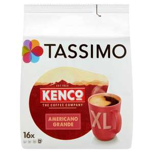 Tassimo Kenco Americano Grande Coffee Pods (pack of £80) @ Amazon - £6 Prime / £10.49 non-Prime (Discount for first time subscribers)