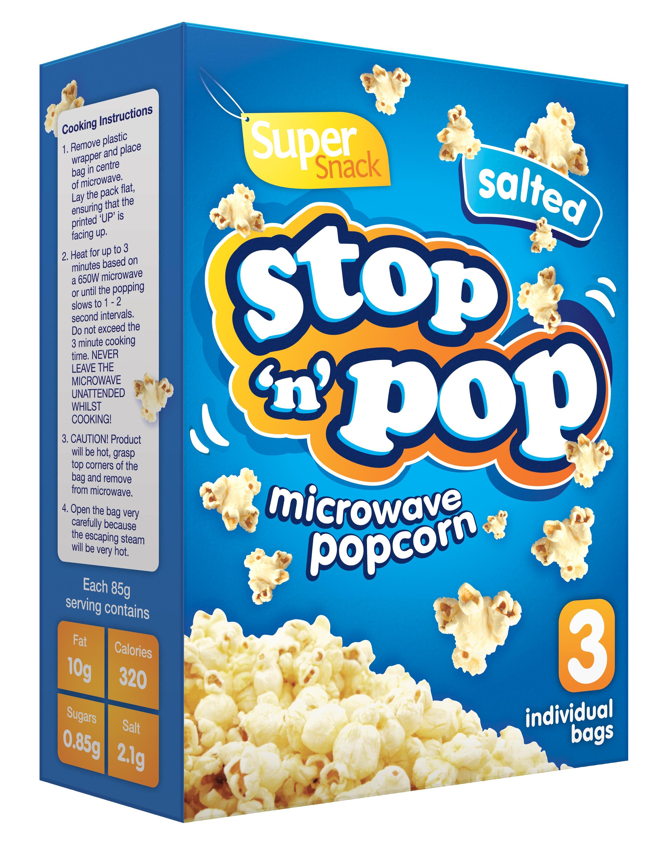 Stop 'n' Pop Microwave Popcorn 340g - Morrisons in-store - 25p