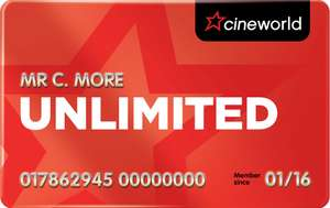 Get 50% off Your First Month of Unlimited, at Cineworld Cinemas (With Code) - £8.95