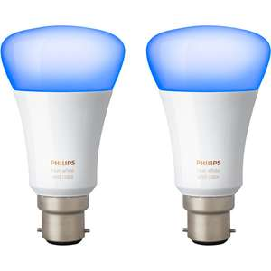 Philips Hue White and Colour Ambiance E27 Twin Pack £57.60 With Code LIGHT10 @ AO