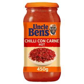 Uncle Ben's Chilli Con Carne Sauce (hot), 450g, 65p Instore at Co Op