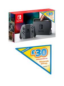 Nintendo Switch Grey Console with £30 Nintendo eShop Download Code £279.99 + 10% credit back on your account @ Very