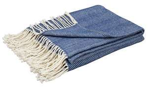 Argos Home Herringbone Throw - Navy for  £8 @ Argos (C&C)