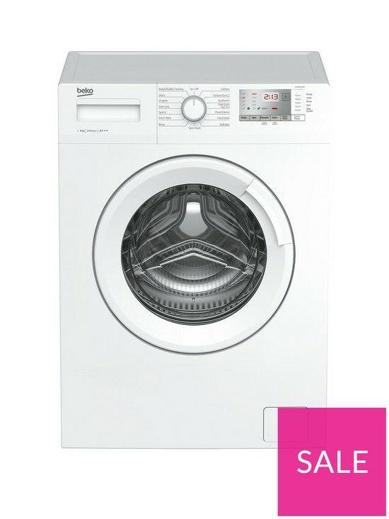 Beko WTG841M2W8kgLoad, 1400 SpinWashing Machine - White @ Very for £199.99