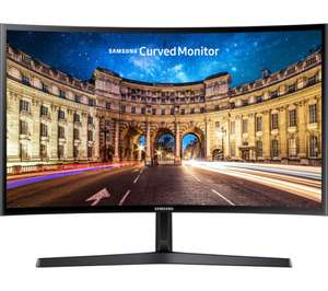 "SAMSUNG C24F396 Full HD 24"" Curved LED Monitor, £99.99 at Currys"