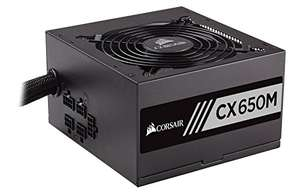 Corsair CX-M Series 650W 80 Plus Bronze Semi Modular Power Supply, £49.49 at Amazon