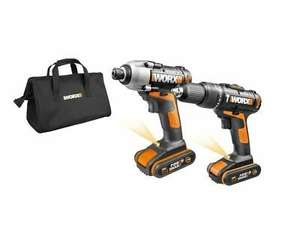 WORX WX938 18V (20V MAX) Cordless Impact Driver and Hammer Drill Twin Pack @ Positecworx/Ebay